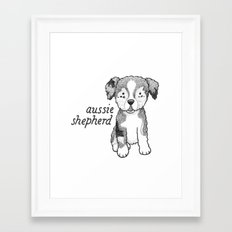 Dog Breeds: Australian Shepherd Framed Art Print