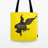 I'm late! – White Rabbit Silhouette Quote Tote Bag