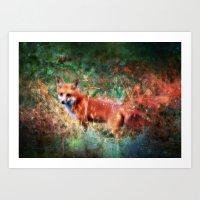 Vulpecula, Star Fox Art Print