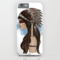 native american iPhone & iPod Cases featuring Native american by Erika Leiva
