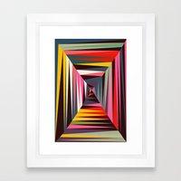 Retro Tunnel Framed Art Print