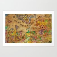 The Land Of What We See … Art Print
