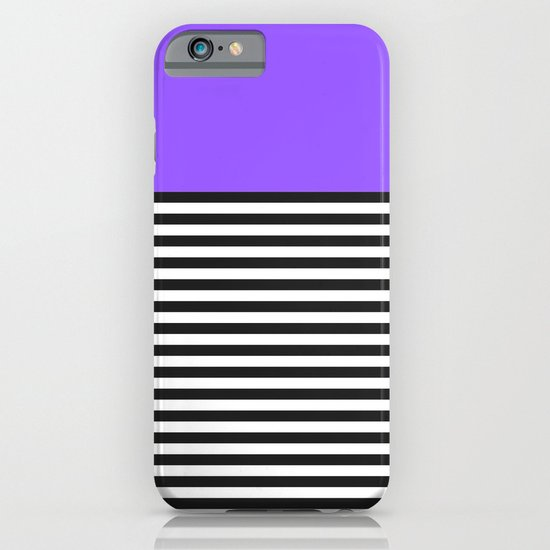 STRIPE COLORBLOCK {PURPLE} iPhone & iPod Case