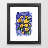 Marsh Marigolds Framed Art Print