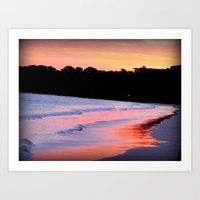Sunset Over The Ocean Art Print
