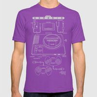 Mega Drive Mens Fitted Tee Ultraviolet SMALL