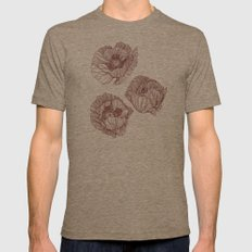 Poppies Mens Fitted Tee Tri-Coffee SMALL