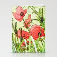 Sketching Poppies Stationery Cards