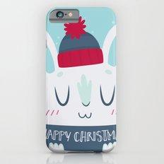 Cozy Winter Rabbit Christmas Card iPhone 6 Slim Case