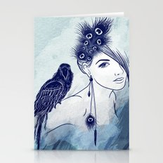 Parrot Girl Stationery Cards