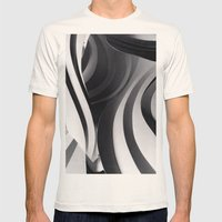 Paper Sculpture #5 Mens Fitted Tee Natural SMALL