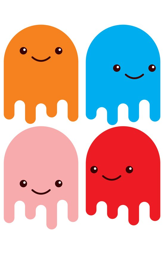 Friendly Ghosts Canvas Print