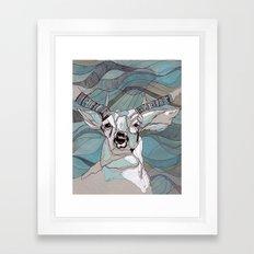 Aqua Deer  Framed Art Print