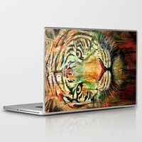tiger Laptop & iPad Skins featuring Tiger by nicebleed