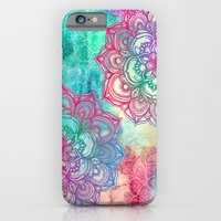 iPhone Cases featuring Round & Round the Rainbow by micklyn
