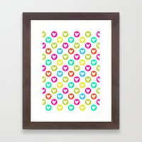 Colorful hearts  Framed Art Print