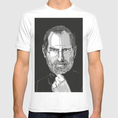 Steve Jobs SMALL Mens Fitted Tee White