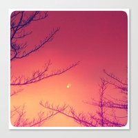 Moon Berries Canvas Print