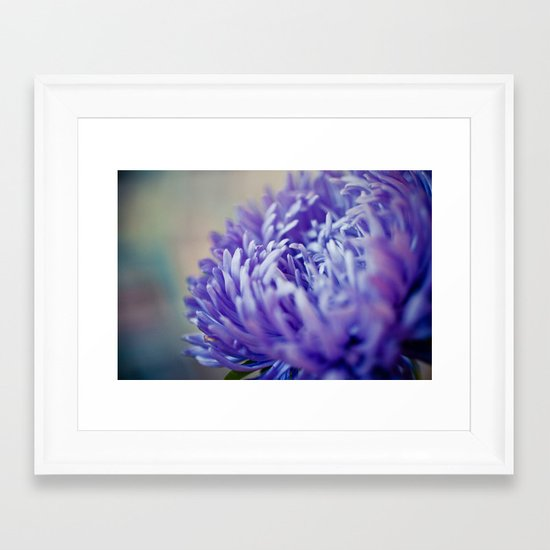 Purple Petals Framed Art Print