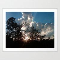 Sunset In South Georgia Art Print