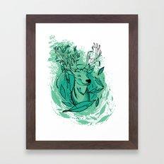 THE WOODS WHERE YOU LIVE. Framed Art Print
