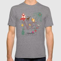 Christmas Noel Mens Fitted Tee Tri-Grey SMALL