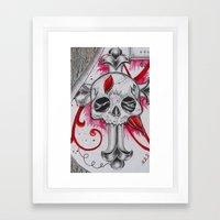 Cracked Skull Framed Art Print