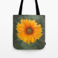 Single Sunflower Tote Bag