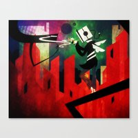 Canvas Print featuring The Lit Cube by Doc Diventia