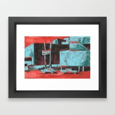 Townscape, cityscape, architectural art, Las Vegas scene Framed Art Print