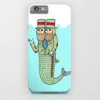 Portrait of a two headed merman iPhone 6 Slim Case