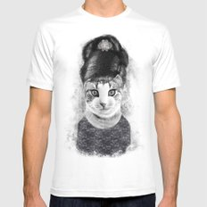 audrey cat Mens Fitted Tee White SMALL
