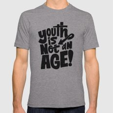 youth is not an age Mens Fitted Tee Athletic Grey SMALL
