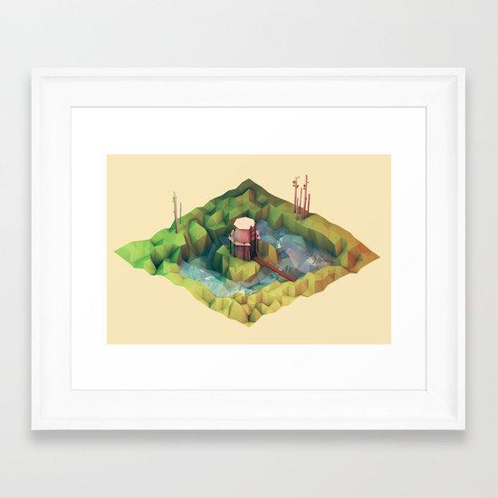 Moat Framed Art Print