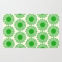 Vintage Flower_Green Rug