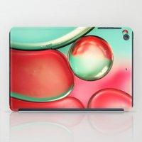 Oil Drops In Blush & Blu… iPad Case