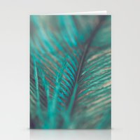 Turquoise Feather Close Up Stationery Cards