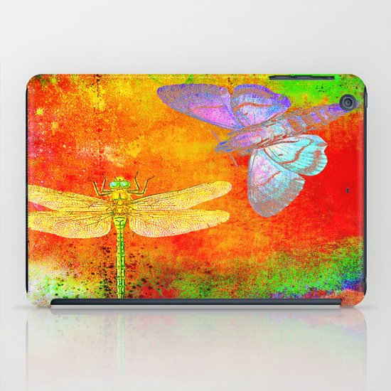 The Dragonfly and the Butterfly iPad Case