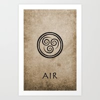 Avatar Last Airbender - Air Art Print