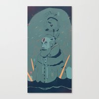 The King Of Antartica Canvas Print