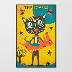 Tarot Card Cat: The Love… Canvas Print