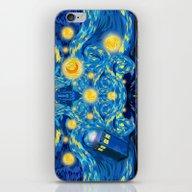 Blue Phone Box Starry Th… iPhone & iPod Skin
