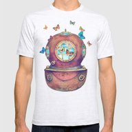 Inner Space Mens Fitted Tee Ash Grey SMALL