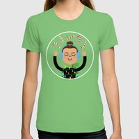 Holiday with Candy Womens Fitted Tee Grass SMALL