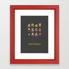 Mega Street Fighter II Framed Art Print
