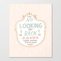 No Looking Back Canvas Print