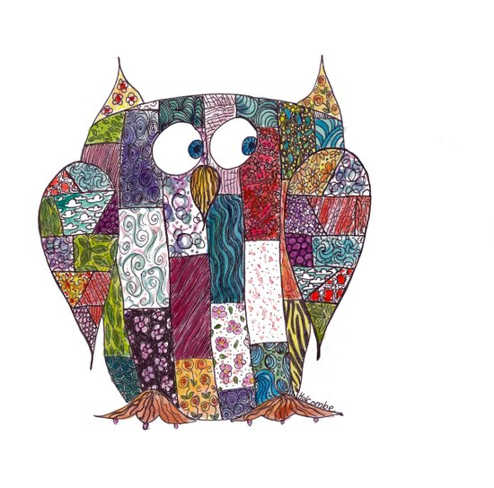 Logcabin Owl Art Print