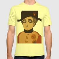 An Officer and a Lady Mens Fitted Tee Lemon SMALL
