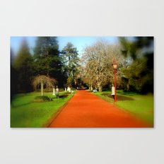 Follow the red Path Canvas Print