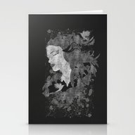 Stationery Cards featuring Cosmic Dreams (B&W) by Viviana Gonzalez